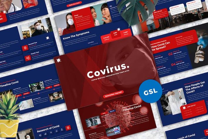Thumbnail for Ковирус - Ковид медицинский Шаблон Гуглеслид