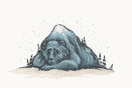 Sleeping Bear. Spirit of Winter