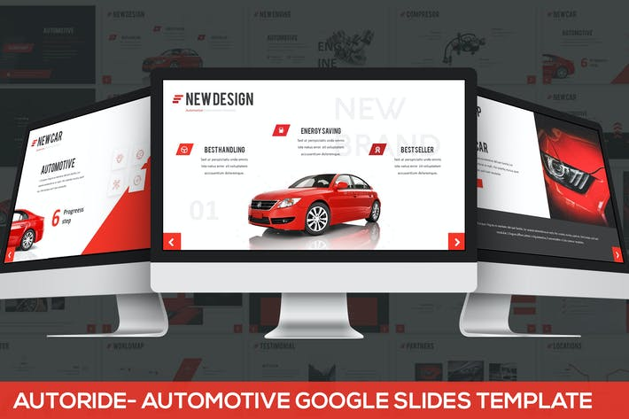 Thumbnail for Autoride - Automotive Google Slides Presentation