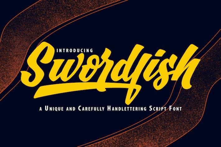 Thumbnail for SwordFish | Unique Handlettering Script Font