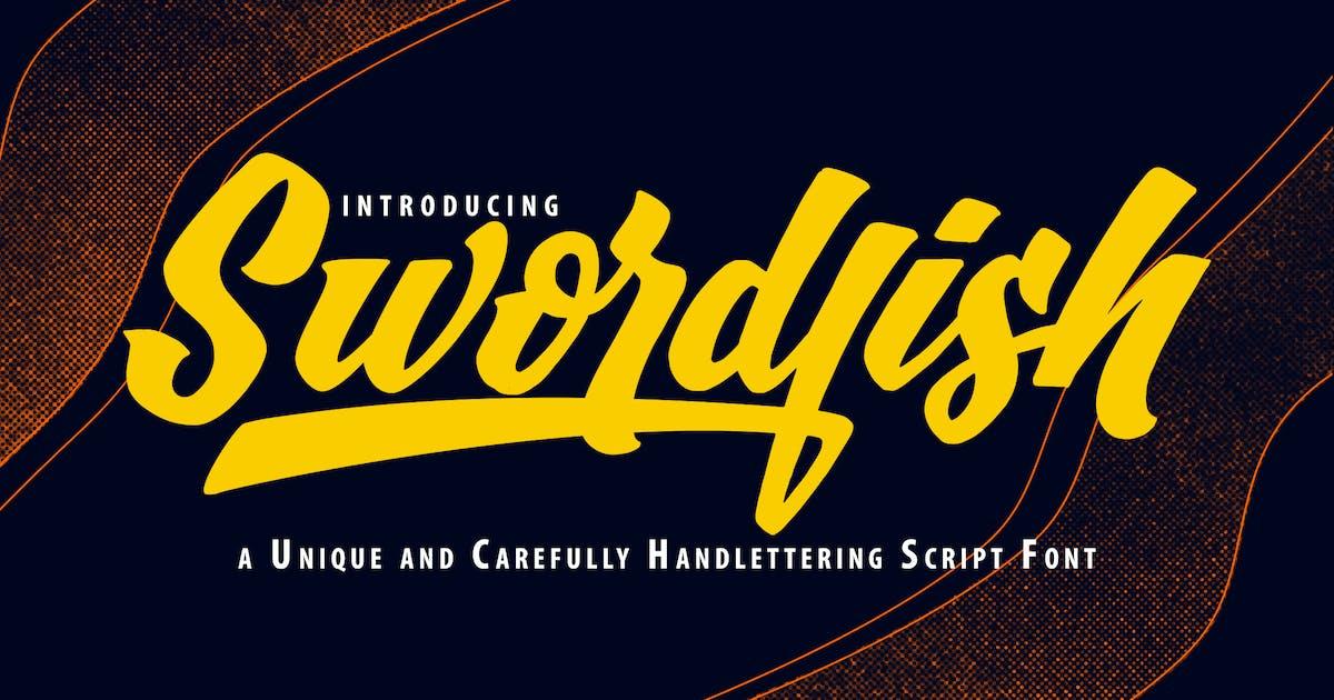 Download SwordFish   Unique Handlettering Script Font by Vunira