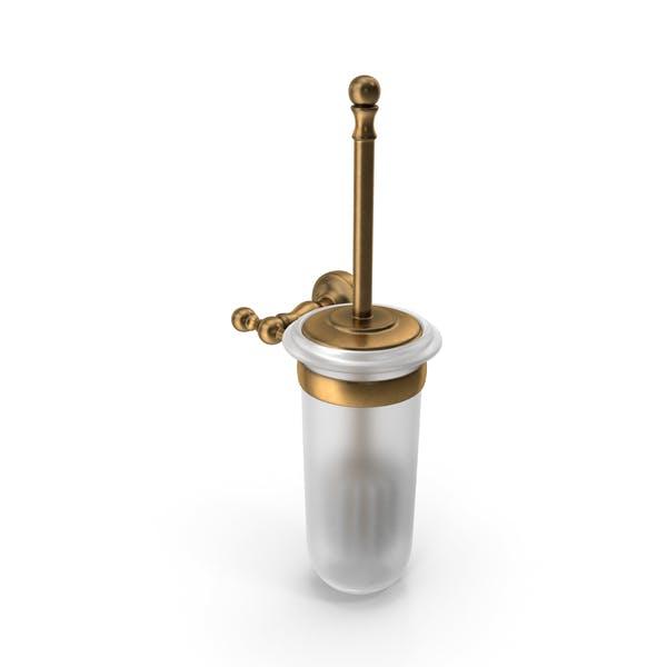 Щетка для туалета бронза Прозрачный