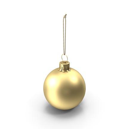 Рождественский мяч Золотой матовый