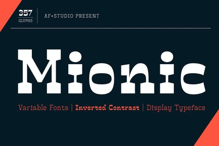 Mionic - Variable Fonts