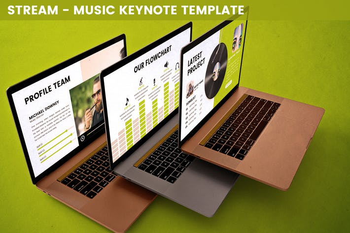 Thumbnail for Stream - Music Keynote Template