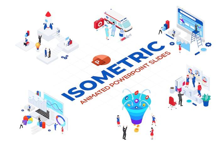 Isometric Animated PowerPoint Templates. Set 01