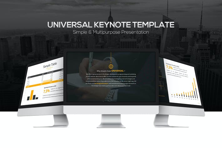 Cover Image For Universal Keynote Template