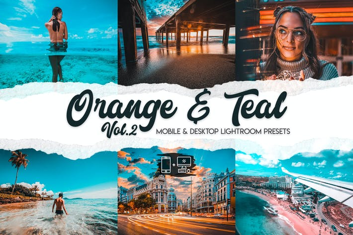 Thumbnail for Orange & Teal Lightroom Presets Vol. 2