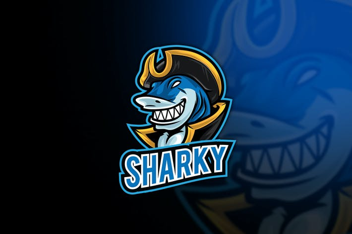 Thumbnail for Shark Esport Logo Template