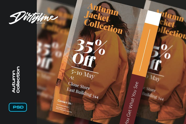 Cover Image For Autumn Jacket Sale Flyer