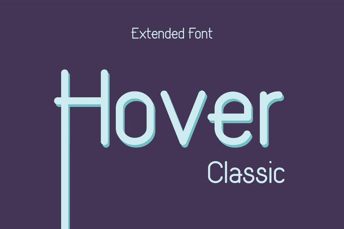 Thumbnail for Hover Classic Extended Font