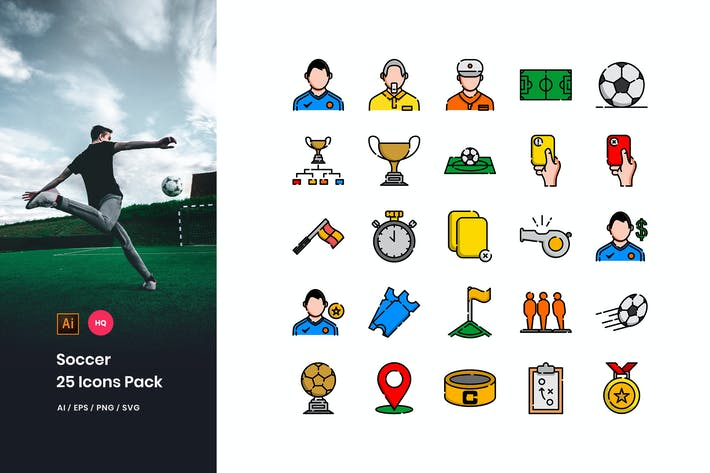 Thumbnail for Soccer Icons Pack