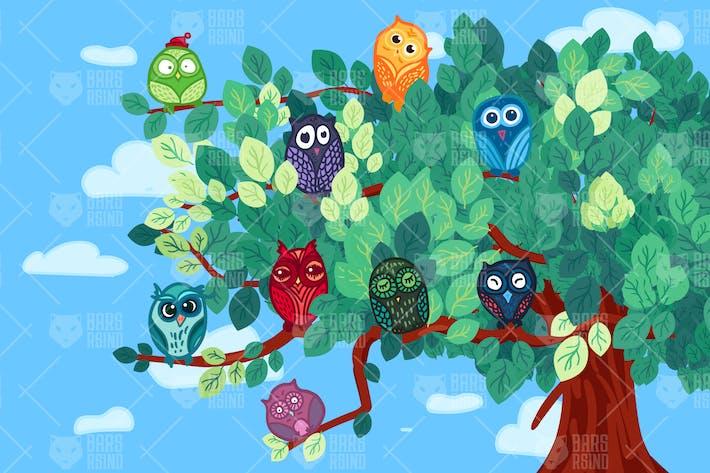 Thumbnail for Eulen auf dem Baum