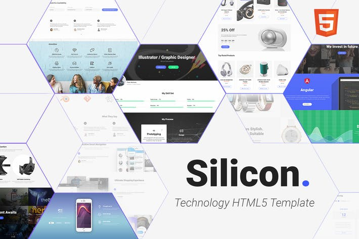 Thumbnail for Silicon - Multi-Purpose Technology HTML5 Template