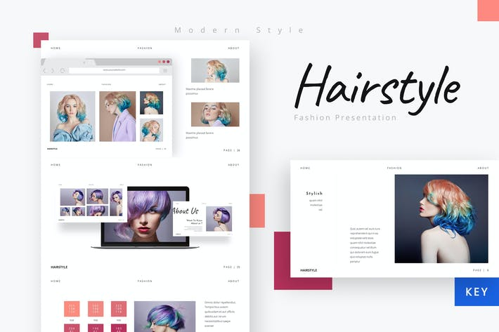 Hairstyle - Beautiful Company Keynote Template