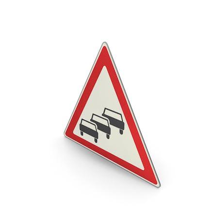 Verkehrszeichen Verkehrswarteschlangen wahrscheinlich