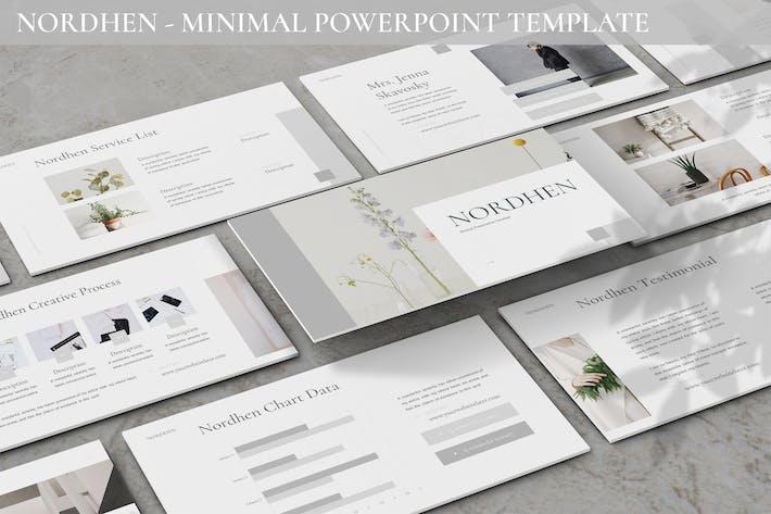 Nordhen - Минимальный шаблон Powerpoint