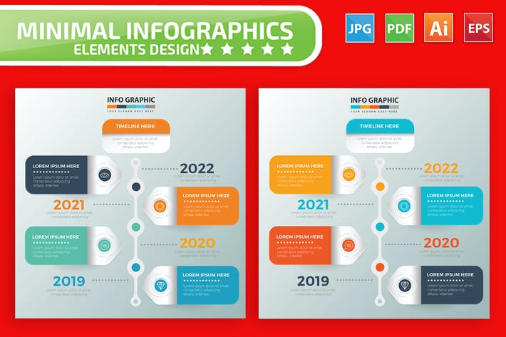 Thumbnail for Timeline Infographics design