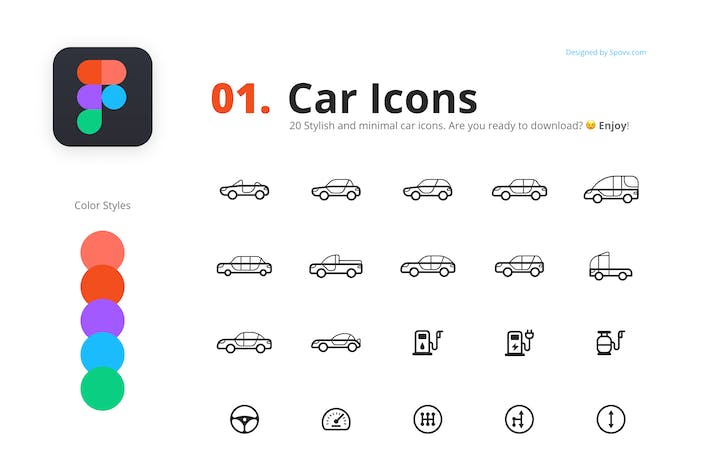 20 Stylish Car Icons