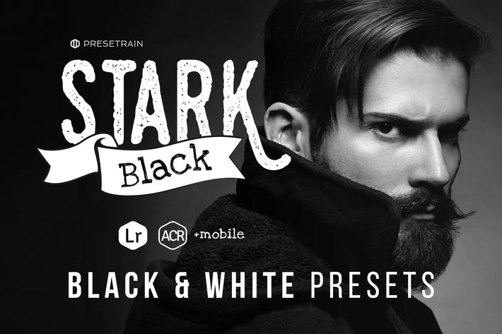 Thumbnail for Stark Black - Dramatic Black & White Presets