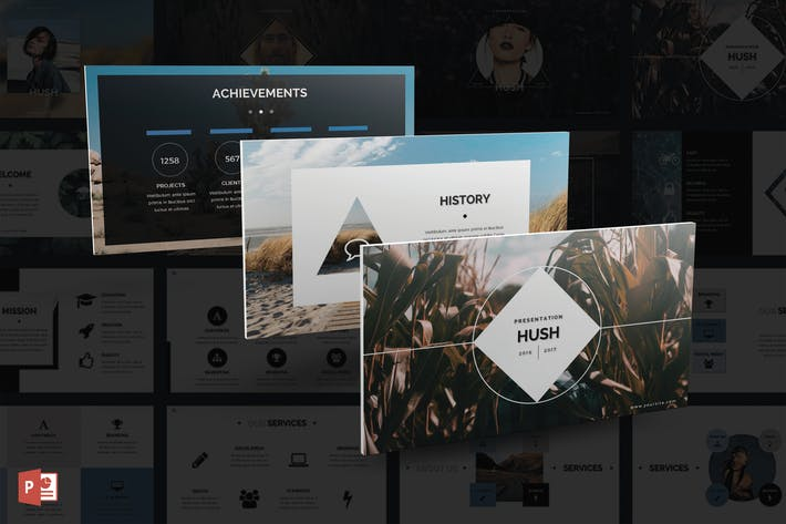 Thumbnail for Hush PowerPoint Template