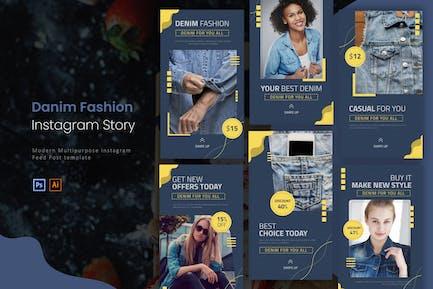 Denim Fashion   Instagram Story