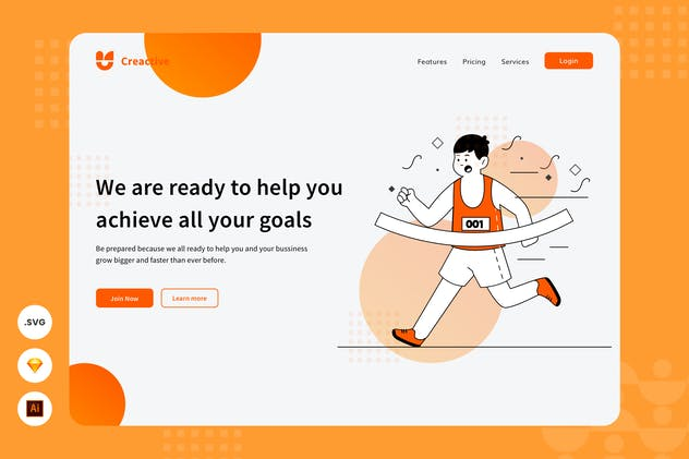 Achieve The Goals - Website Header Illustration