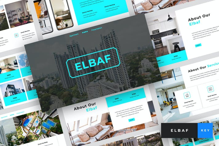 Thumbnail for Elbaf - Шаблон Keynote апартаментов