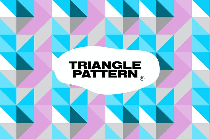 Thumbnail for Modern Triangle Color Geometric Pattern