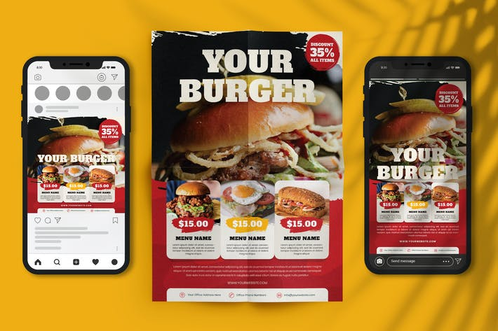 Thumbnail for Burger Promotion Flyer and E-Flyer