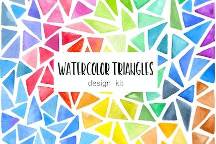 Watercolor Triangles Design Kit
