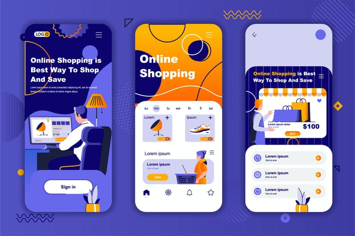 Shopping Instagram Stories Onboarding Screens
