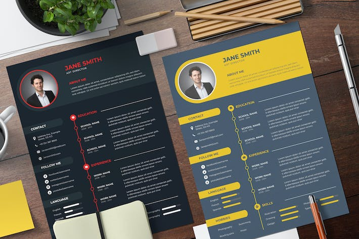 Thumbnail for CV Professional Resume Template