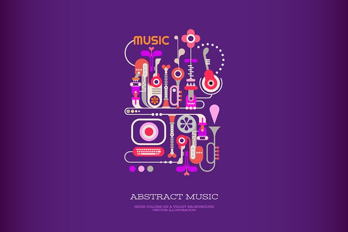 Thumbnail for Abstract Music vector banner design