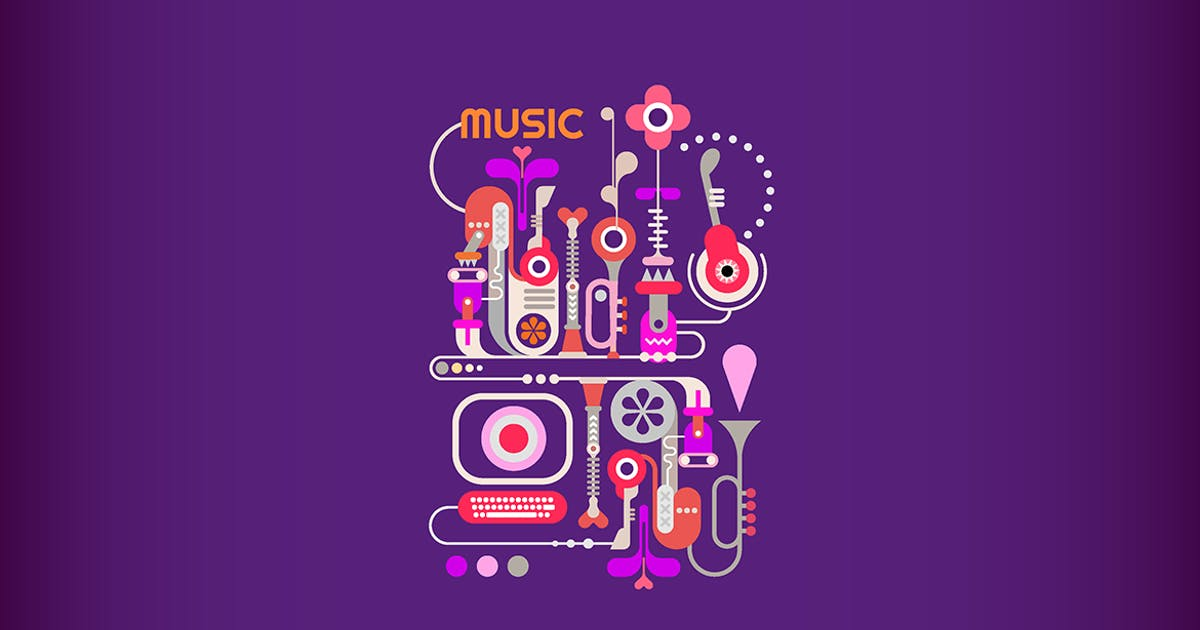 Download Abstract Music vector banner design by danjazzia