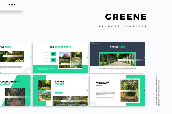 Thumbnail for Greene - Шаблон Keynote