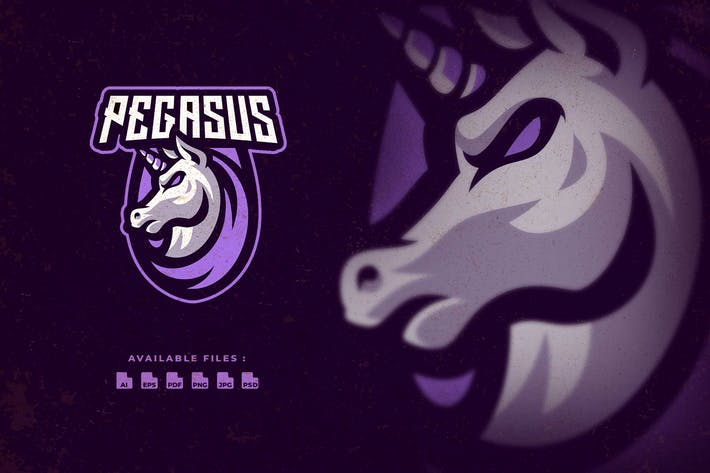 Pegasus Character Esport Logo