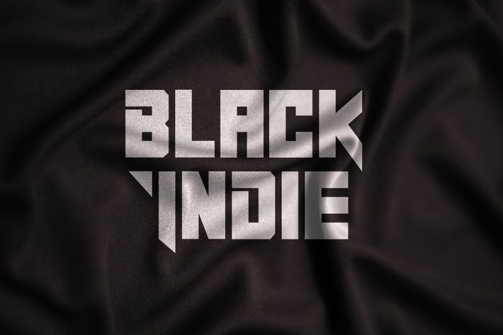 Thumbnail for Black Indie - Display Font