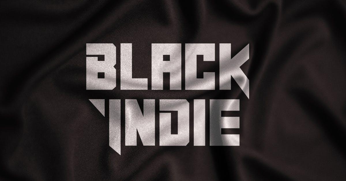 Download Black Indie - Display Font by Din-Studio