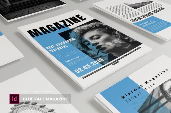 Thumbnail for Blue Face| Magazine Template