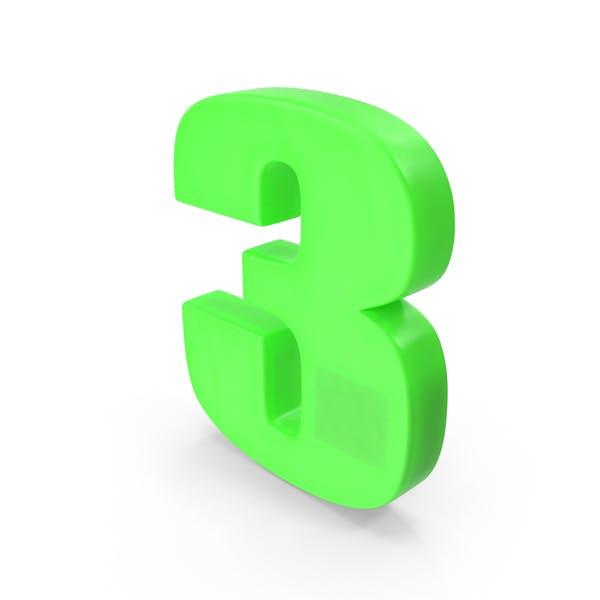 Cover Image for Number 3 Fridge Magnet