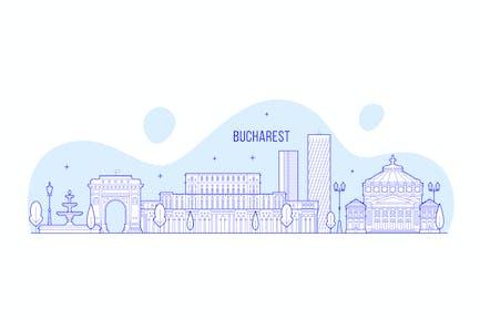 Bucharest skyline, Romania