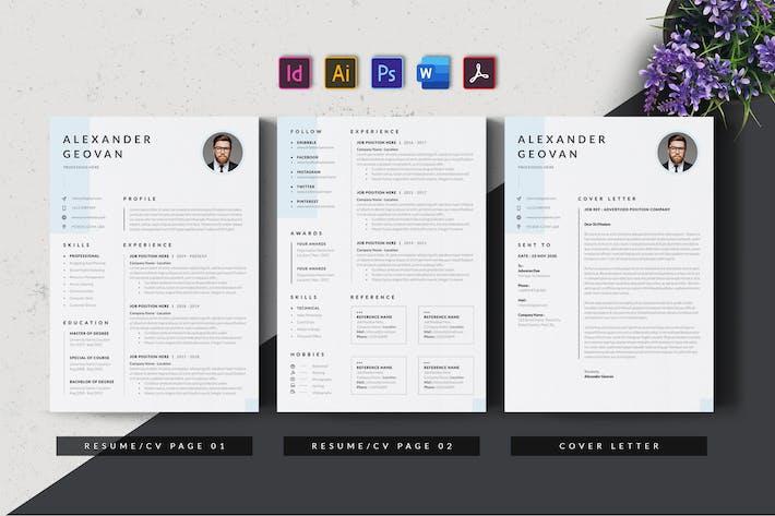 Thumbnail for Creative & Minimalist Resume AN