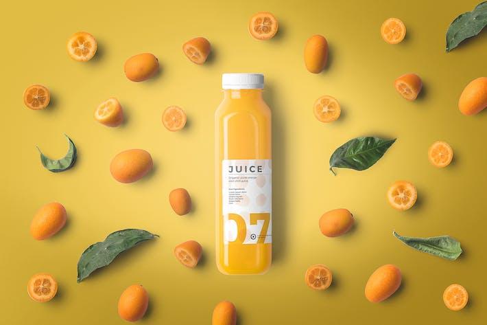 Cover Image For Juice Bottle Mockups