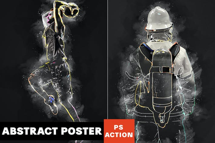 Thumbnail for Abstract Poster Photoshop Action