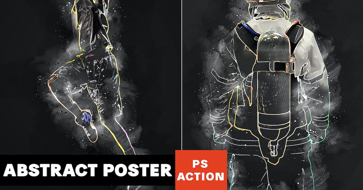Download Abstract Poster Photoshop Action by AB-Designer