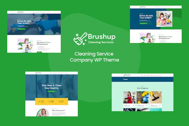 Brushup - Cleaning Service Company WordPress