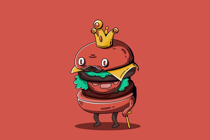 Thumbnail for King of Burger - Character Design