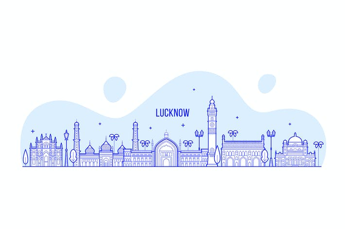 Thumbnail for Lucknow skyline, India