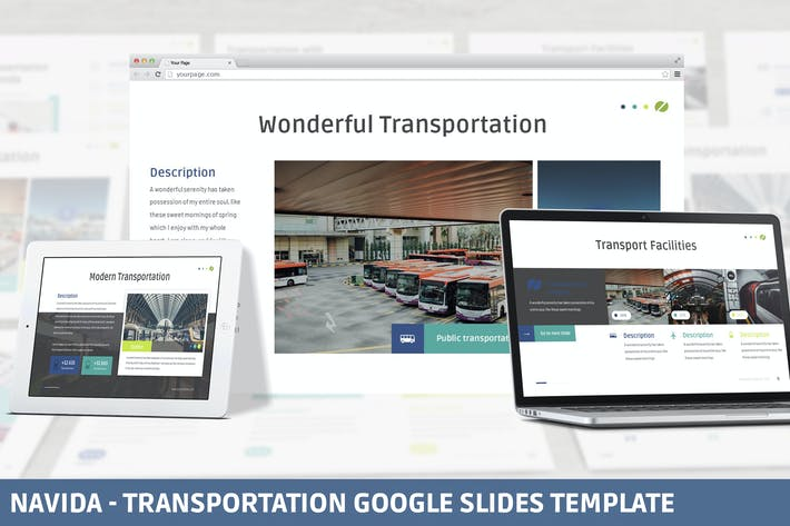 Navida - Transportation Google Slides Template